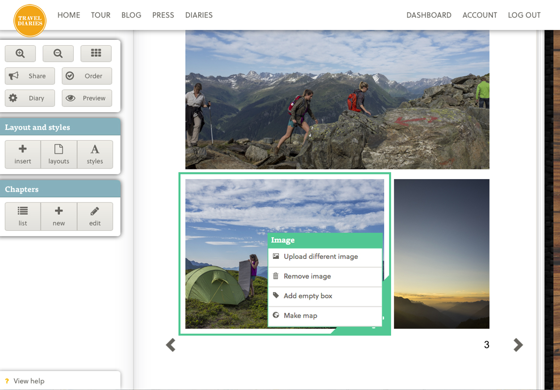 Add photos and maps